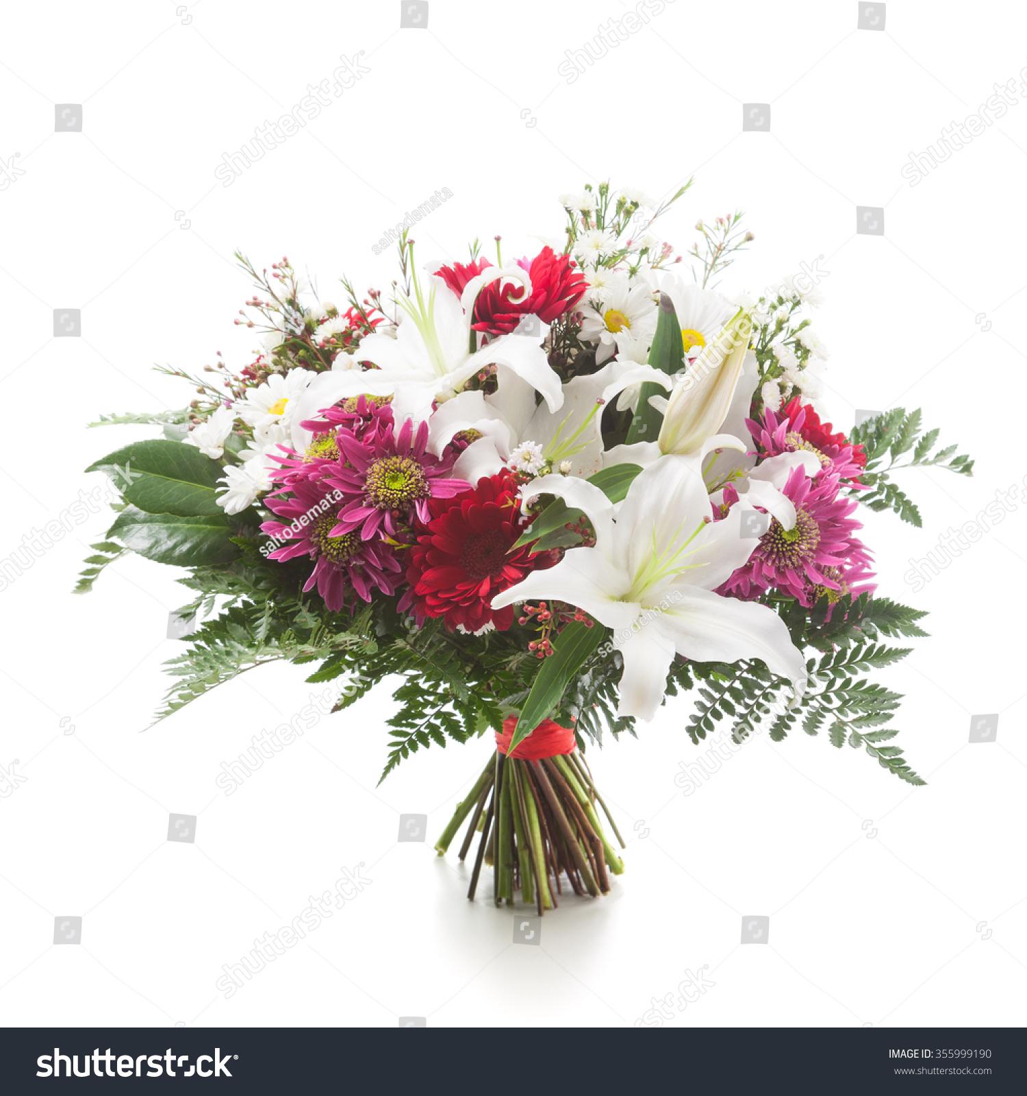 Flower Bunch Made Lily Chrysanthemum Gerber Stock Photo Edit Now