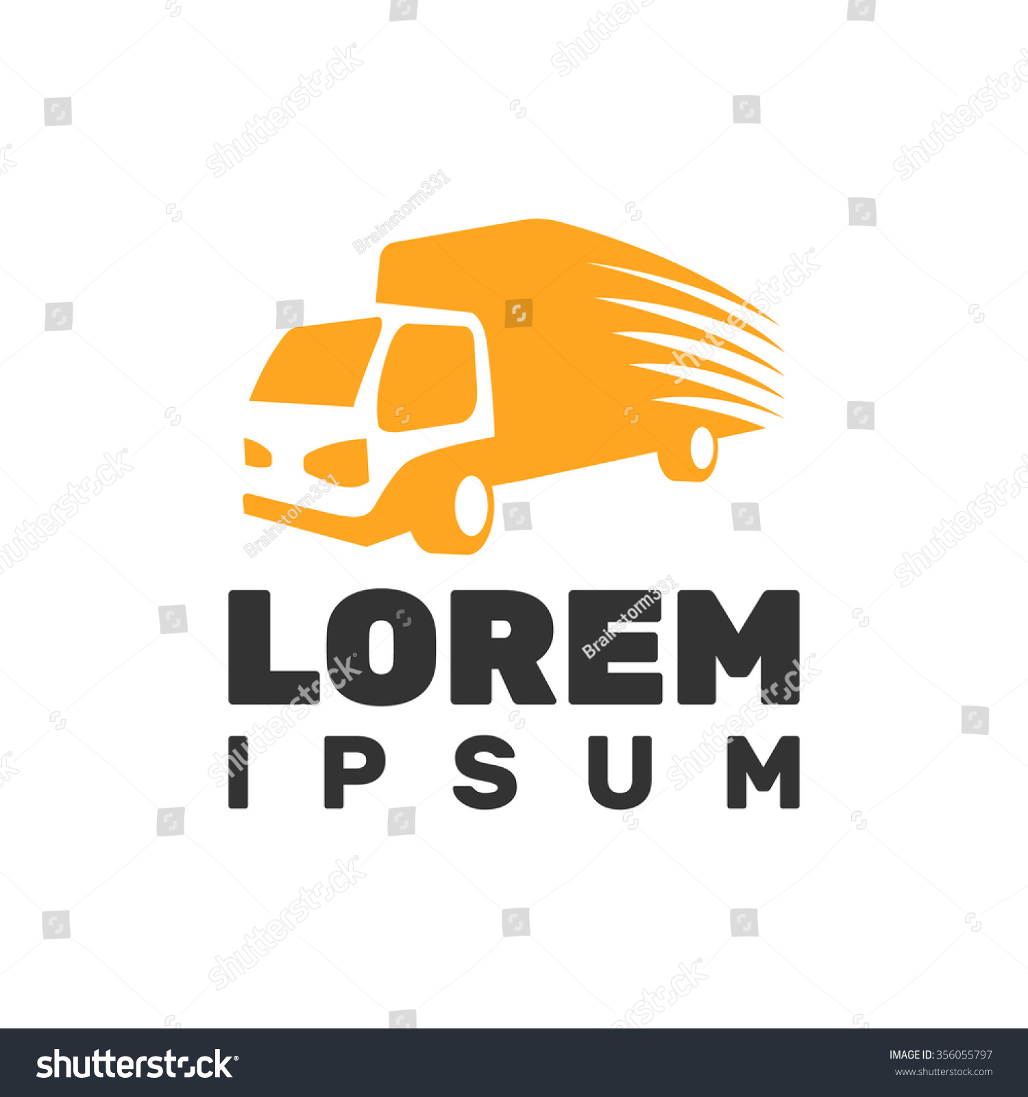 Monochrome Truck Vector Logo Delivery Truck Stock Vector ...