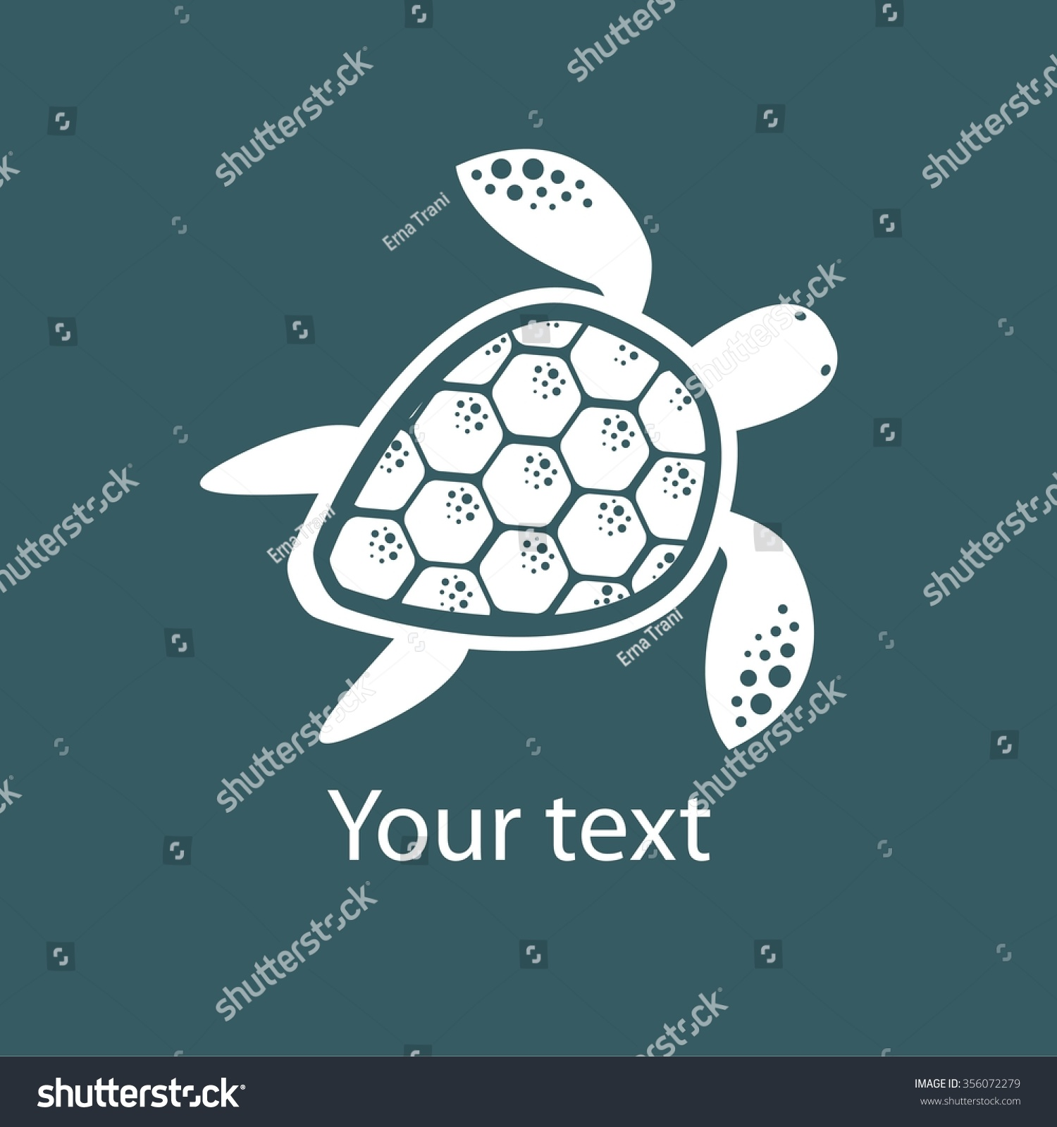 Silhouette stylized turtle on blue background stock vector silhouette stylized turtle on blue background turtle symbol vector illustration biocorpaavc