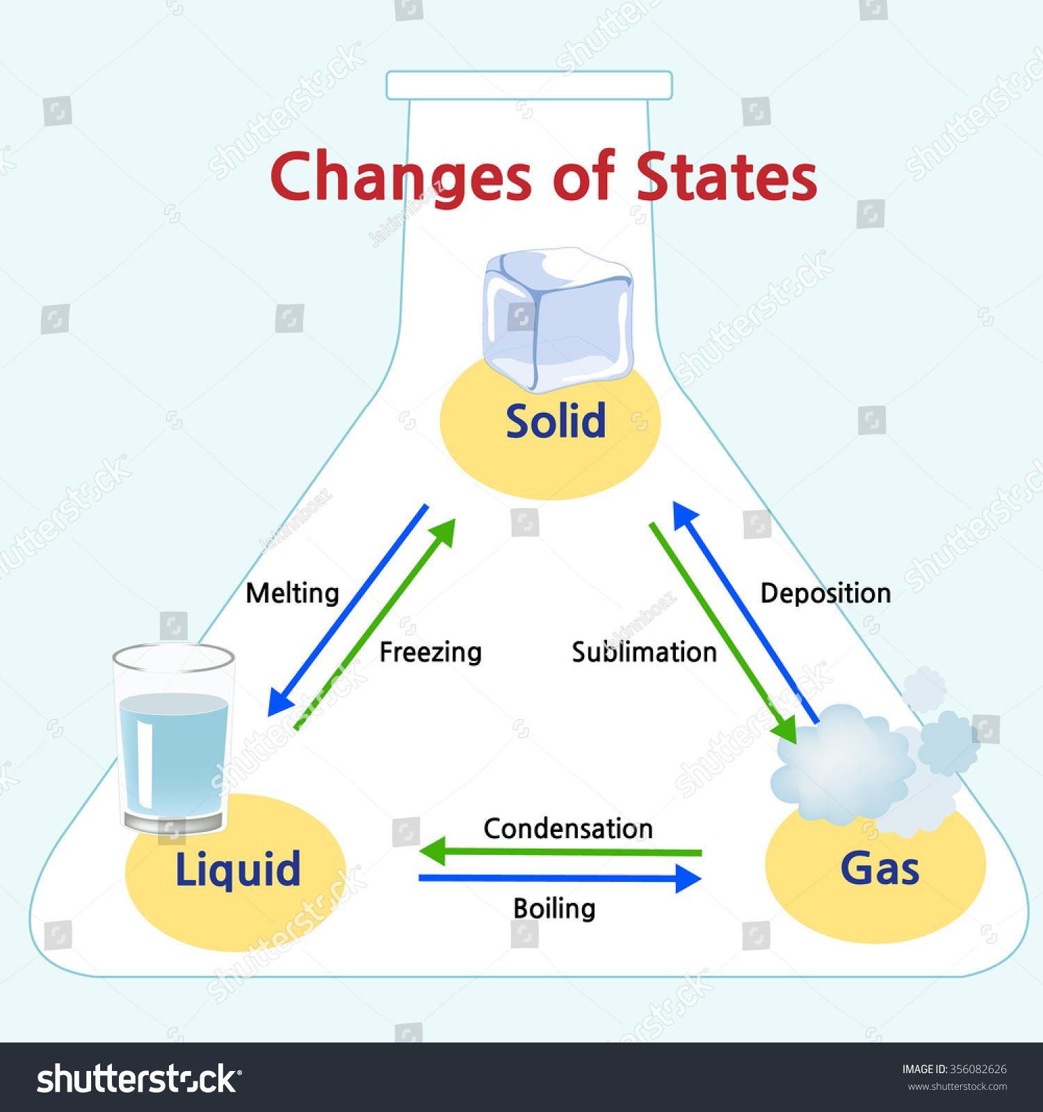 Names Transitions Between States Matter Stock Vector 356082626 ... Medical Laboratory Logo Design