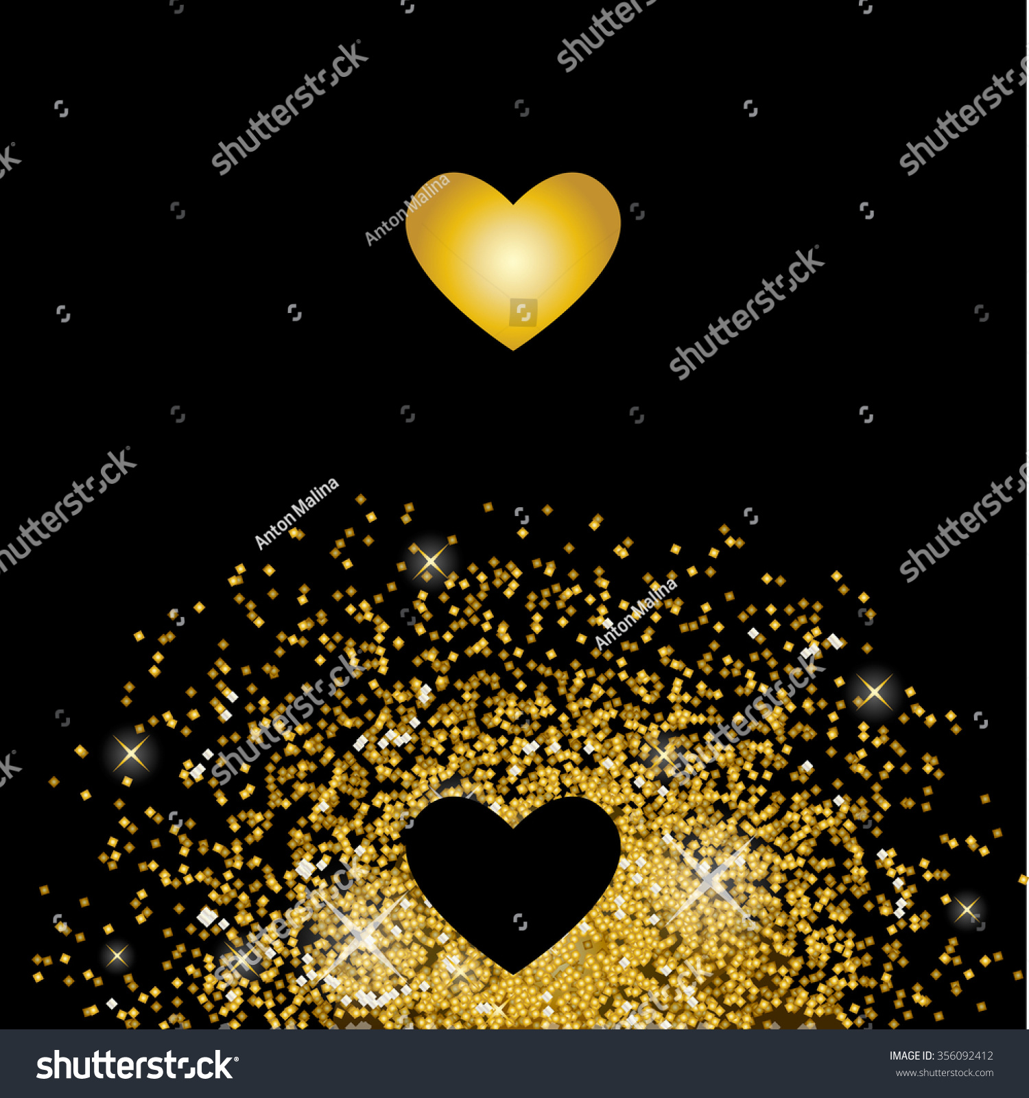 One Love Symbol Flying Love Heart Stock Vector Royalty Free