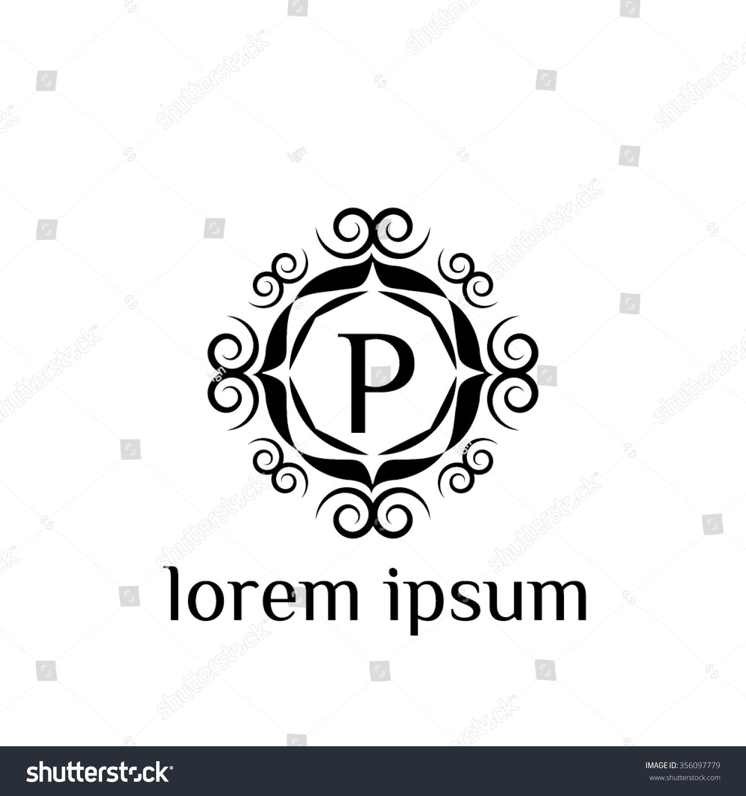 P Letter Vector Logo Template Sign Symbol Emblem Ornament Ez