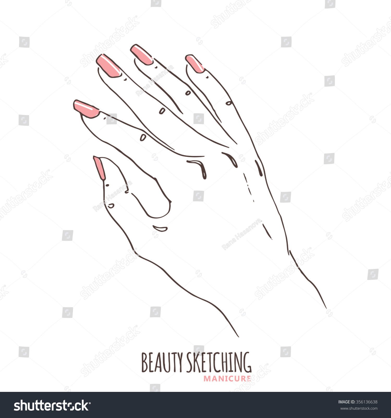 Drawing Lines On Nails : Manicure manicured nails nail polish stock vector