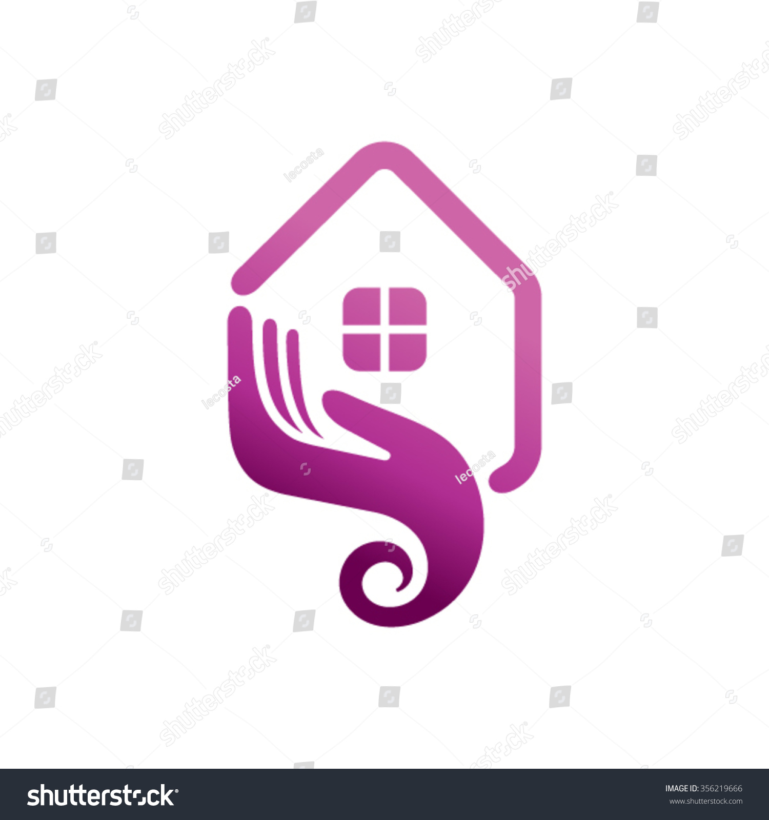Home care logo design stock vector 356219666 shutterstock - Home health care logo design ...