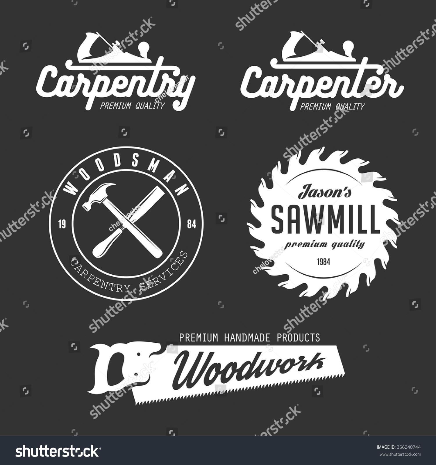 Shirt design elements - Carpenter Design Elements In Vintage Style For Logo Label Badge T Shirts
