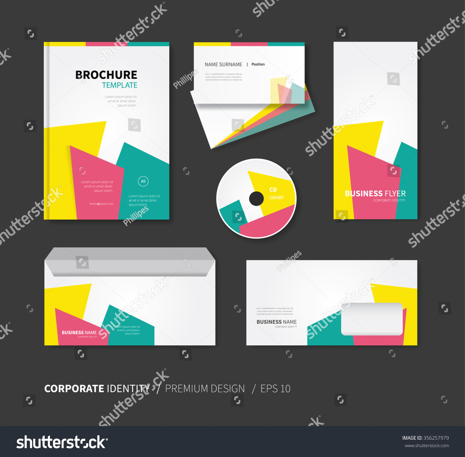 Modern Vector Business Card Brochure Envelope Stock Photo (Photo ...