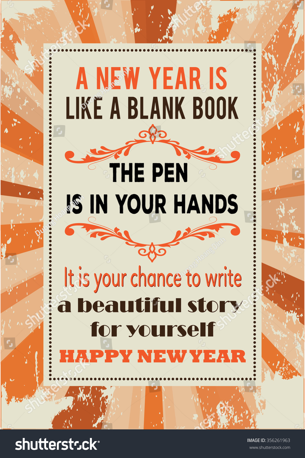 new year quote retro new year poster style a new year is like a