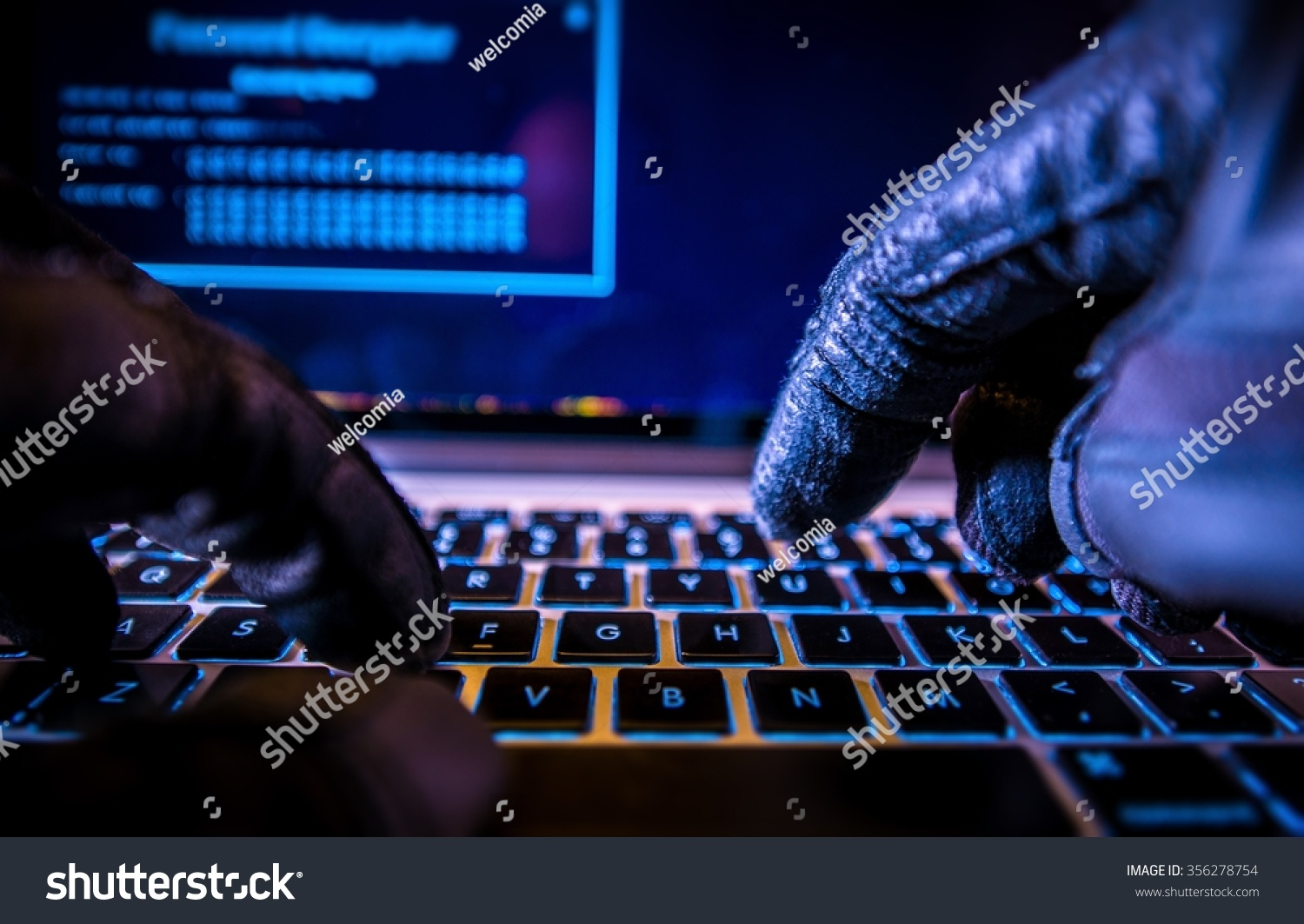 Black gloves online - Online Credit Cards Payment Security Concept Hacker In Black Gloves Hacking