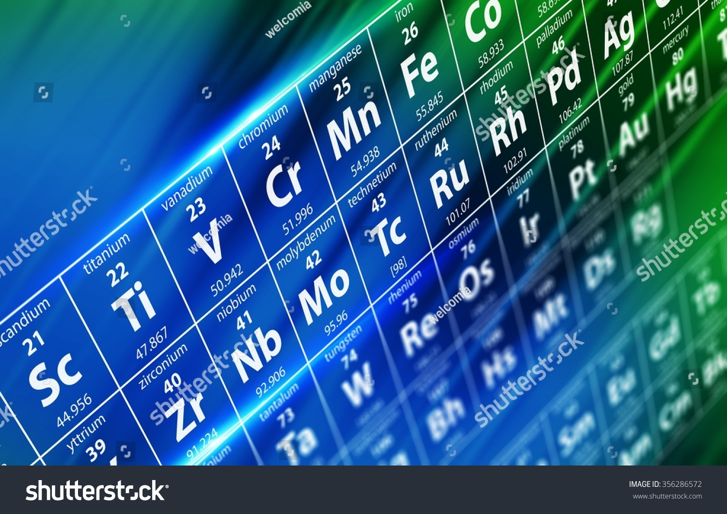 Periodic table elements concept illustration depth stock periodic table of elements concept illustration with depth of field chemistry and science conceptual illustration gamestrikefo Images