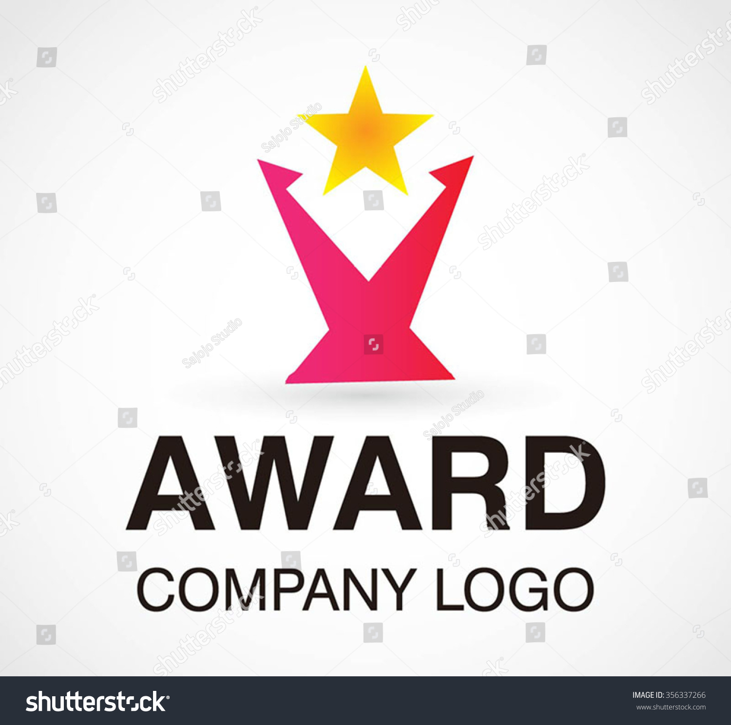 Achievement award of star abstract vector and logo design or template ...