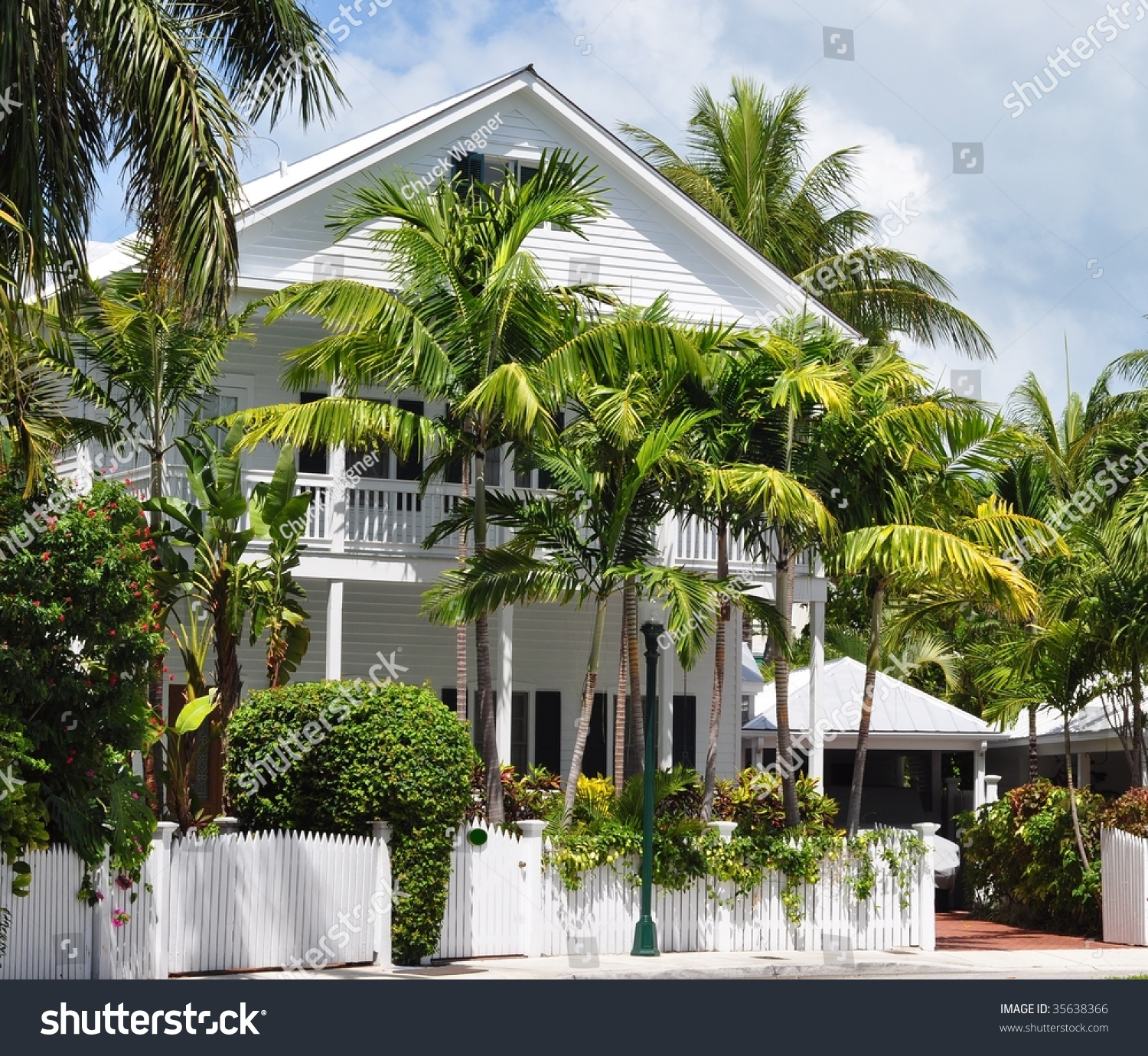 Key West Style Architecture Stock Photo 35638366