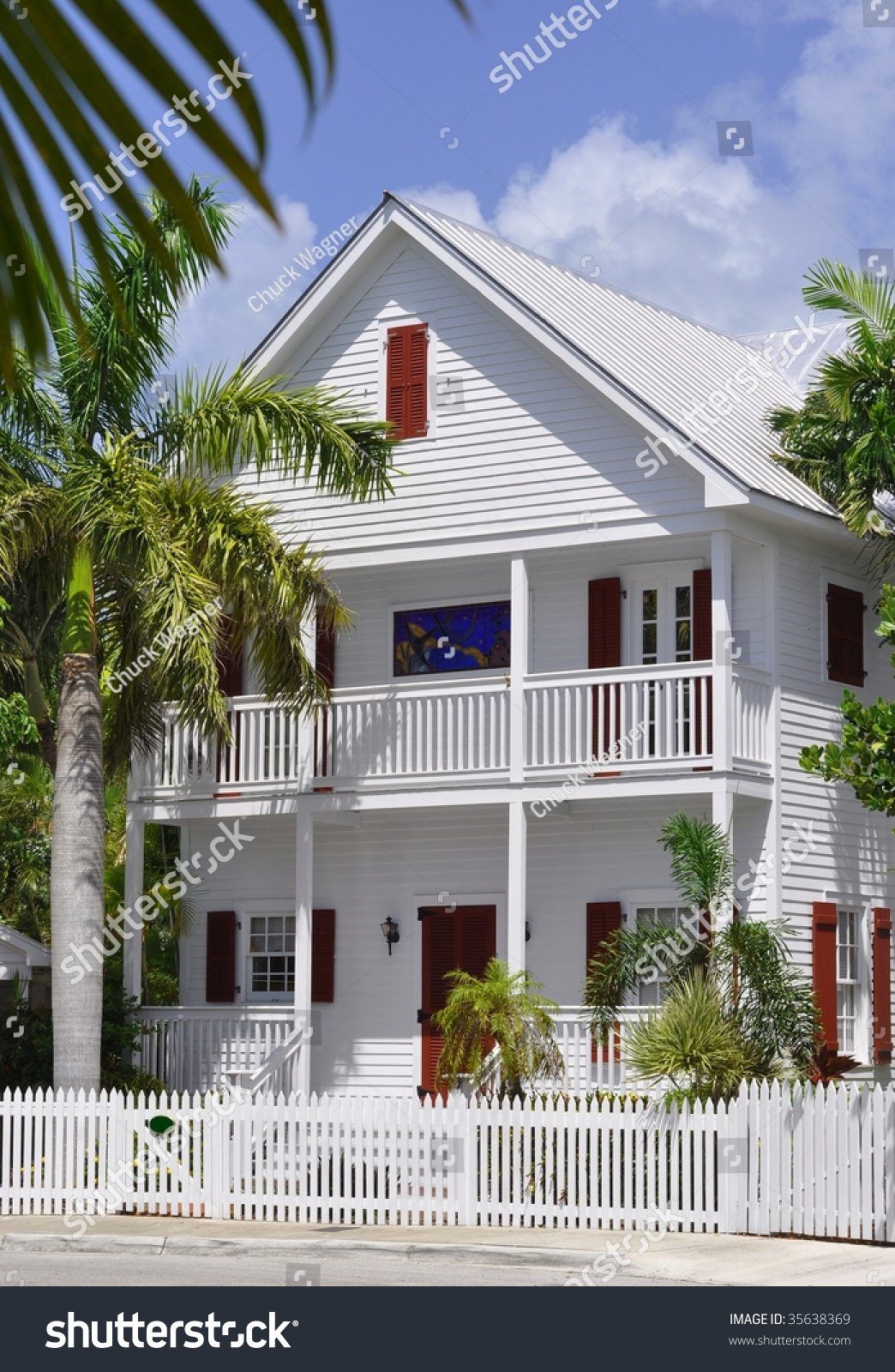 Key West Style Architecture Stock Photo 35638369