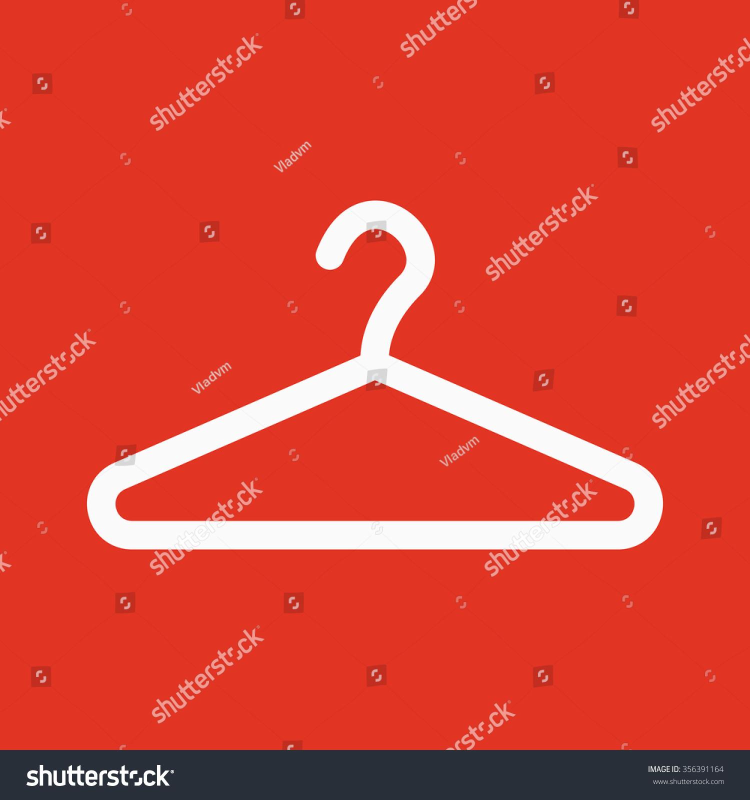 Hanger icon coat rack symbol flat stock vector 356391164 the hanger icon coat rack symbol flat vector illustration buycottarizona