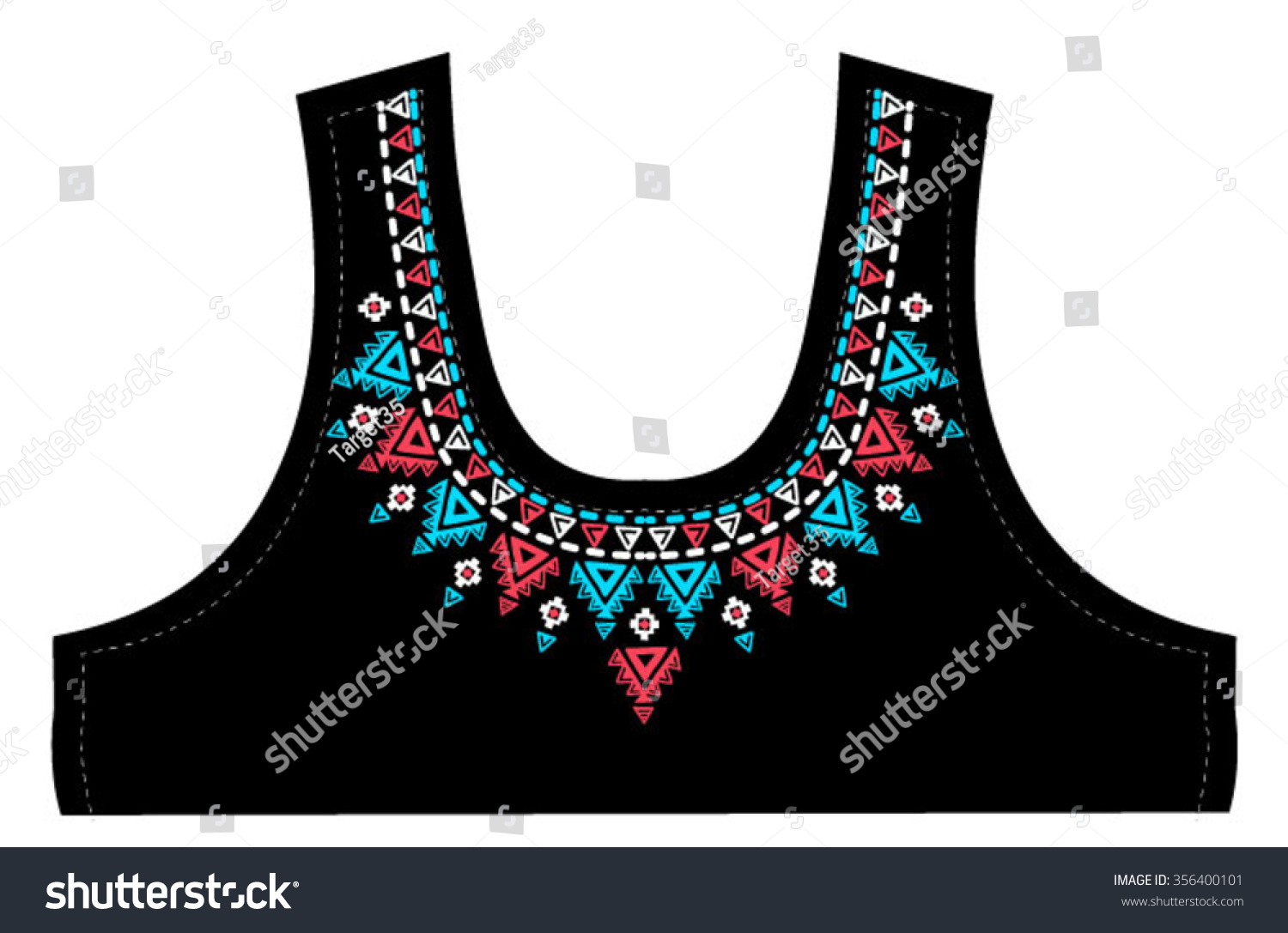 Design t shirt embroidery - Embroidery Necklace Design For T Shirt