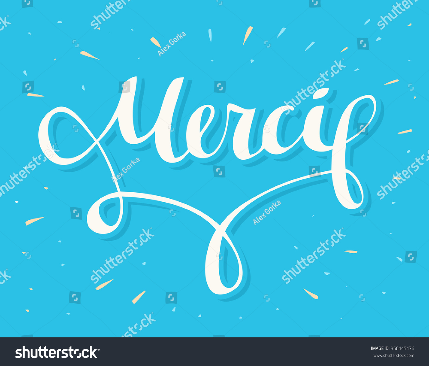 Merci Thank You French Stock Vector Royalty Free 356445476