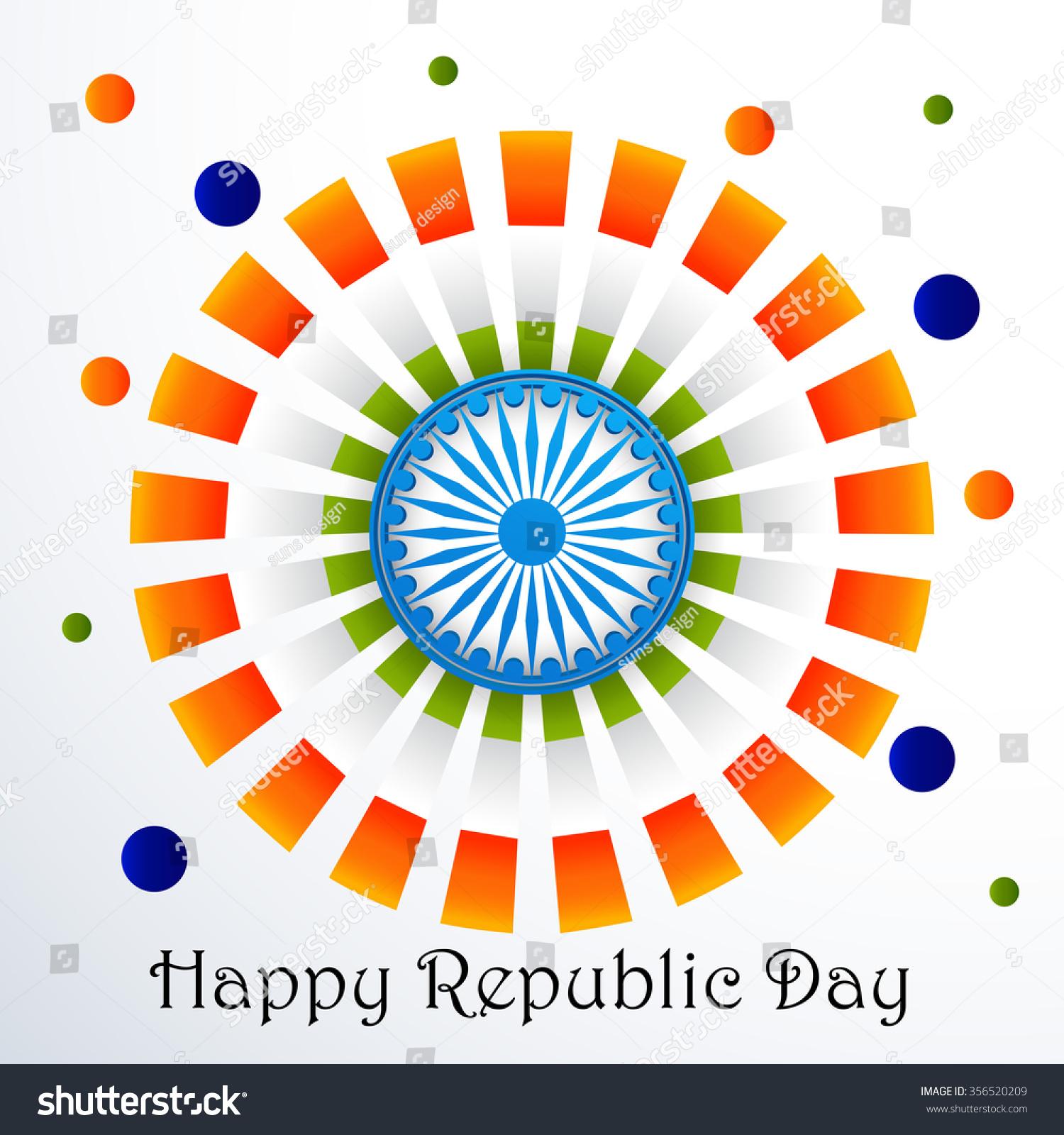 Vector Illustration Greeting Card Republic Day Stock Vector Royalty