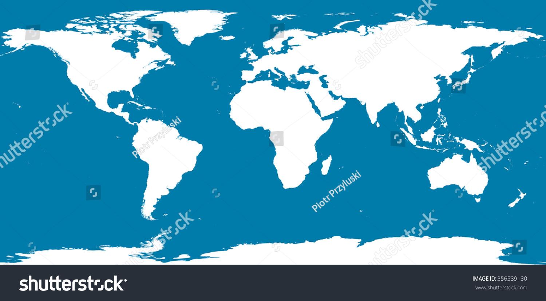 World map antarctica stock vector 356539130 shutterstock world map with antarctica gumiabroncs Gallery