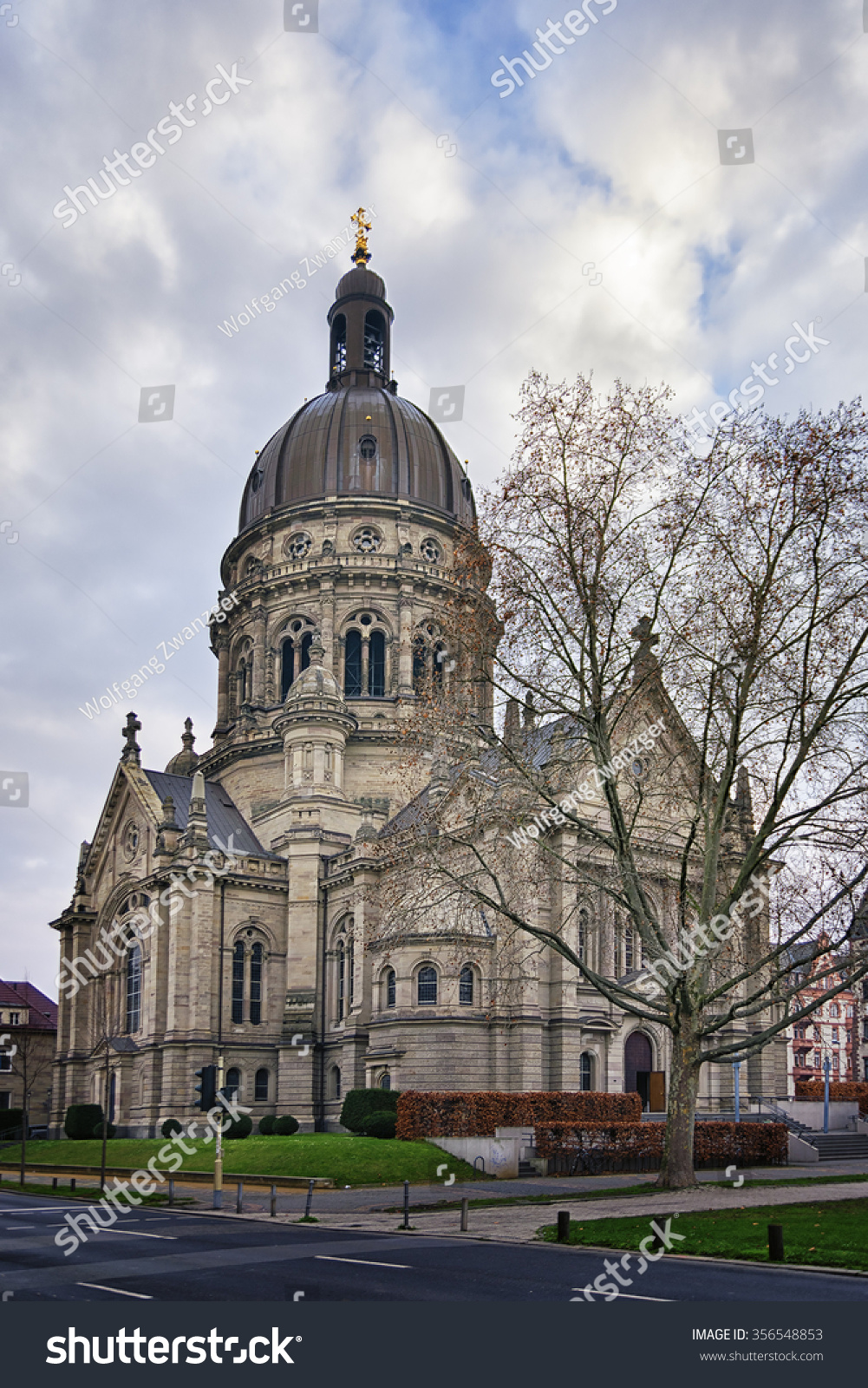 image christus church mainz germany stock photo 356548853 shutterstock. Black Bedroom Furniture Sets. Home Design Ideas