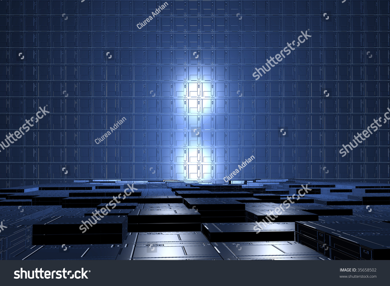 Futuristic Digital Room Power Tech Background Industry Technology Of Tomorrow Blue