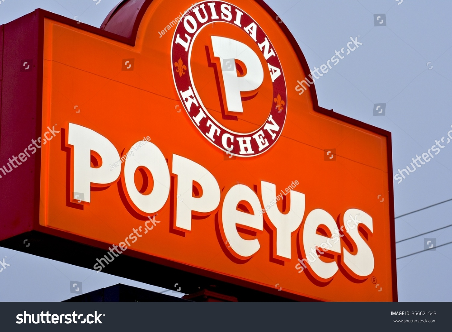 Popeyes Louisiana Kitchen Logo Vector Severn Md Usa December 30 2015 Stock Photo 356621543  Shutterstock