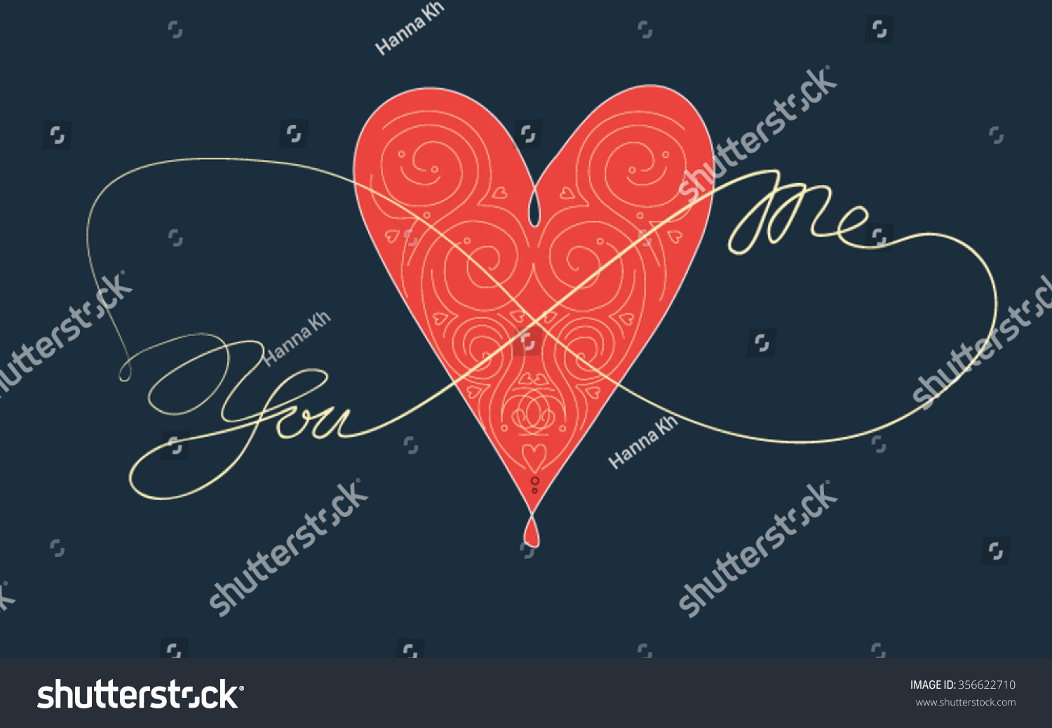 You Me Heart Infinity Coloring Book Stock Vector 356622710 ...