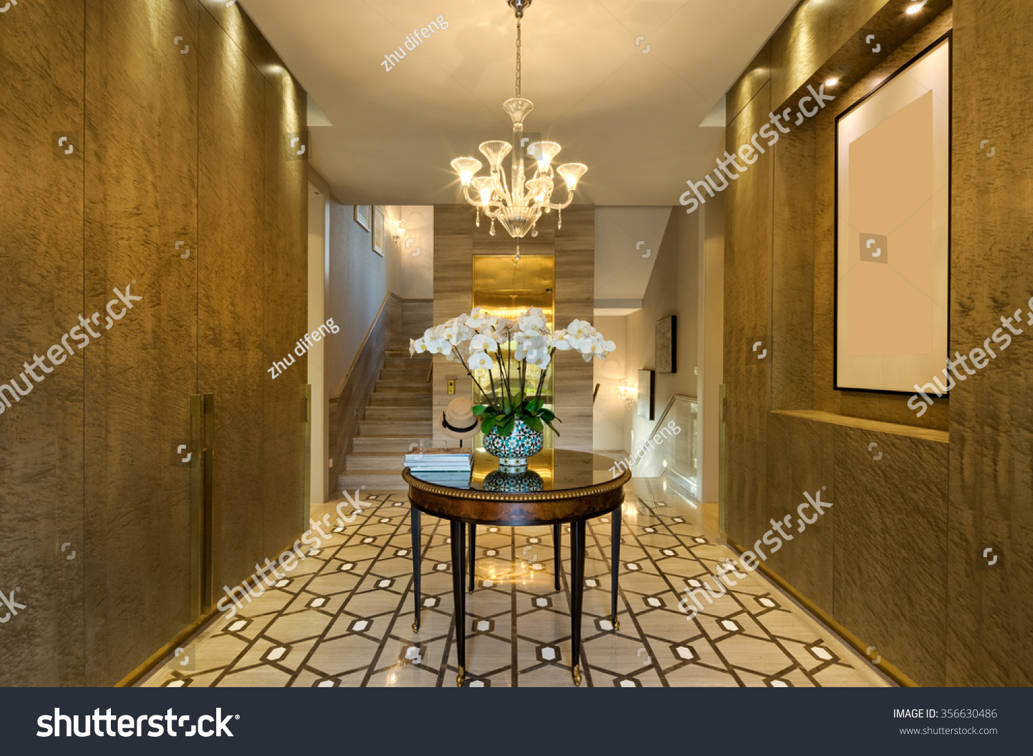 furniture for entrance hall. Decoration And Furniture In Modern Entrance Hall For D