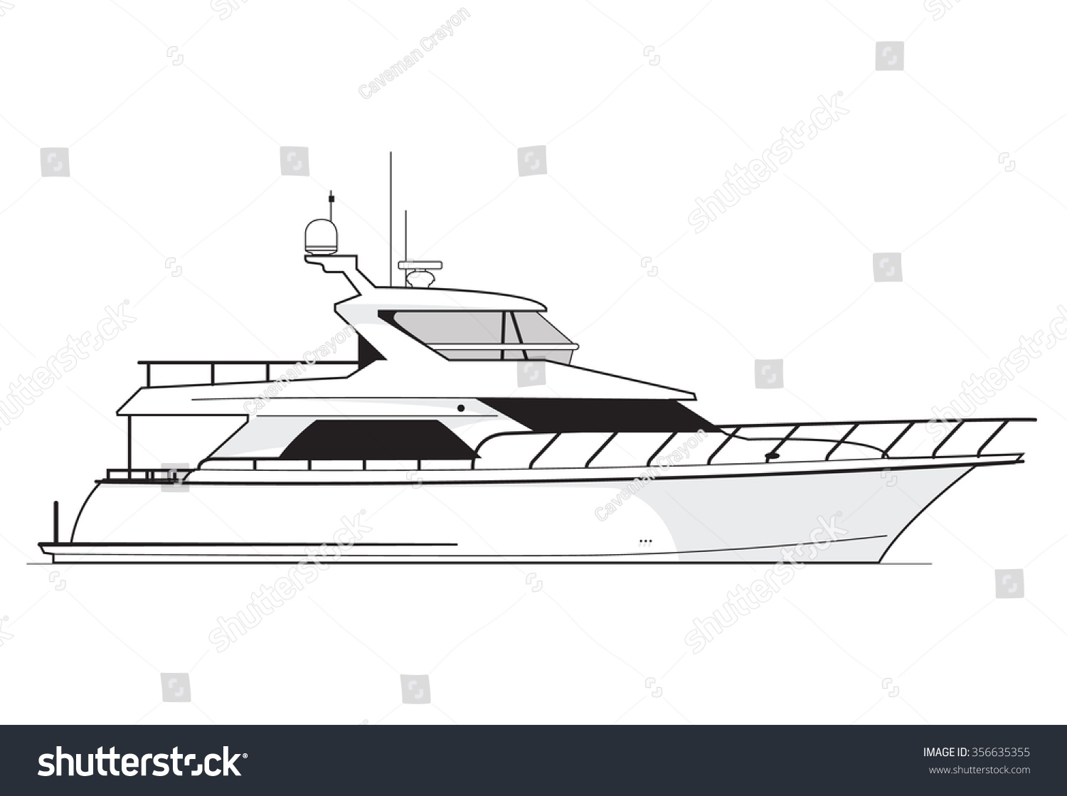 Art Line Quality : High quality side view line drawing stock vector