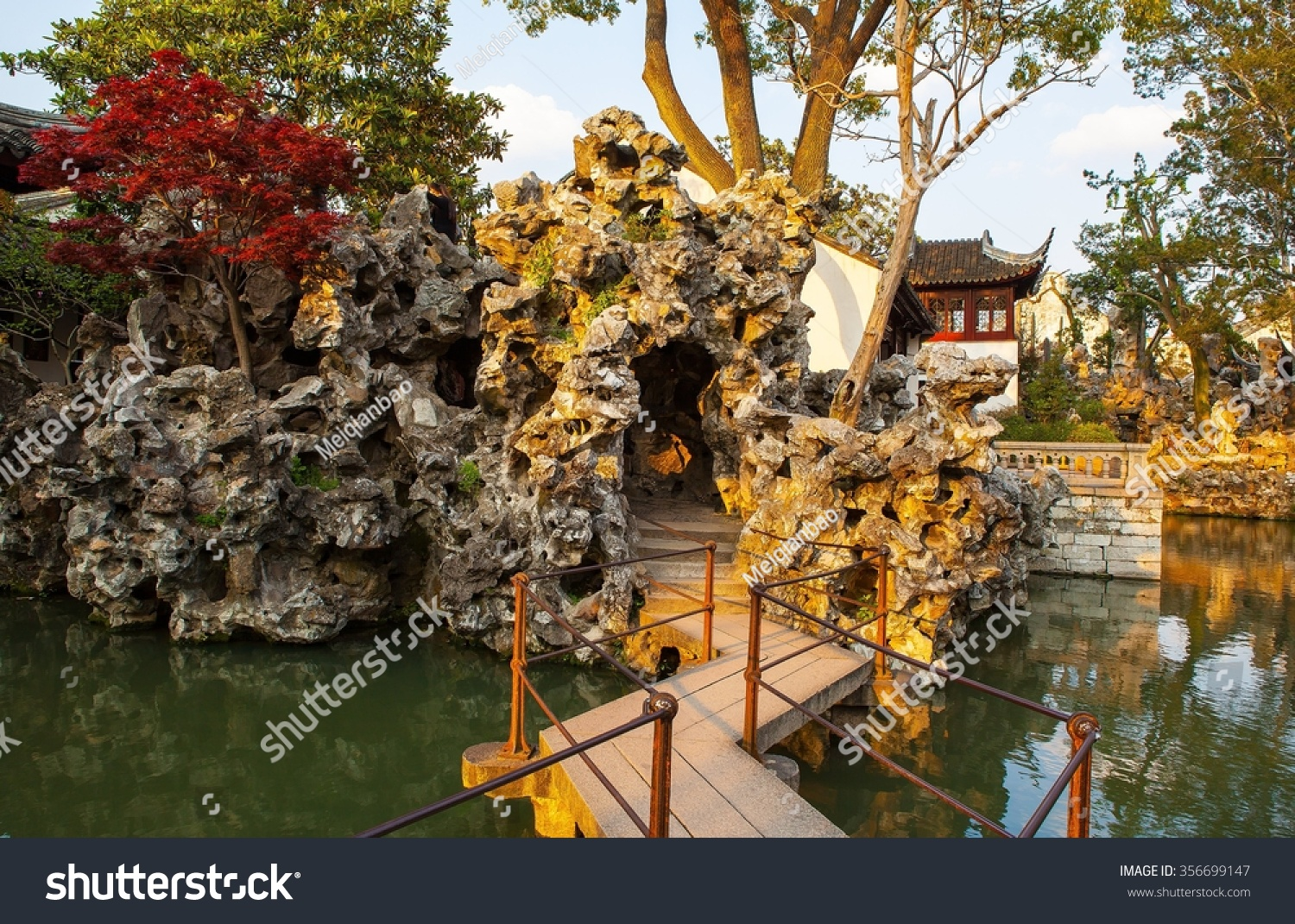 Lion Forest Park One Chinese Classical Garden Stock Photo (Royalty ...
