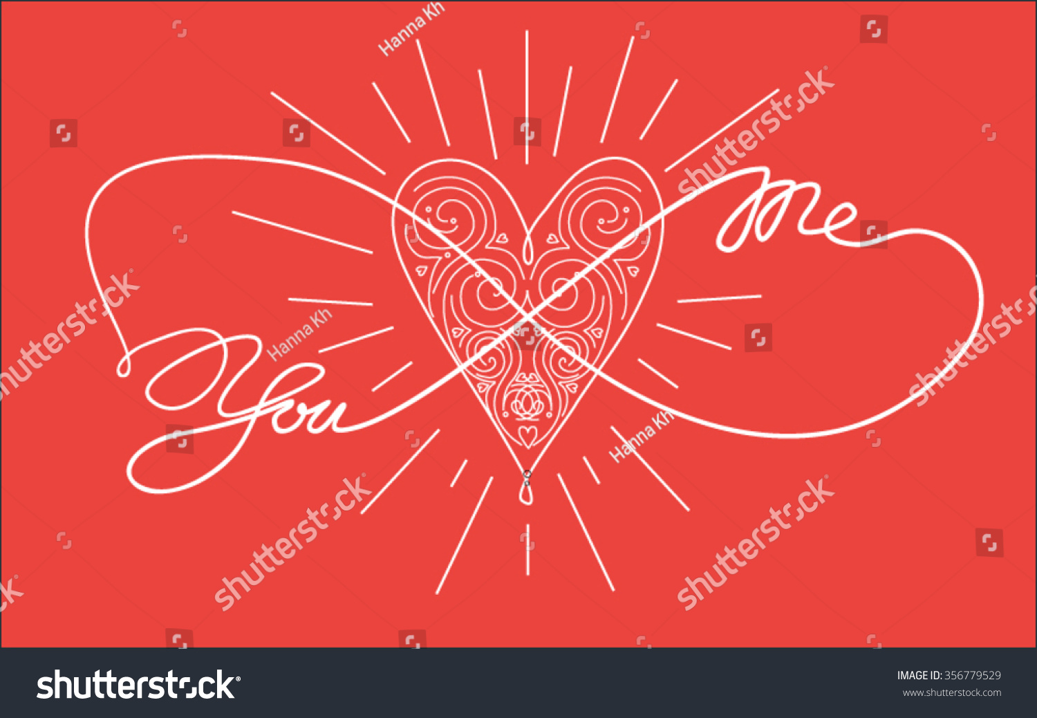 You Me Heart Infinity Coloring Book Stock Vector (2018) 356779529 ...