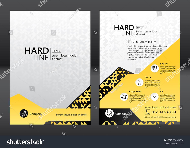 Brochure Flyer Template Design Geometric Pattern Vector – Geometric Flyer Template