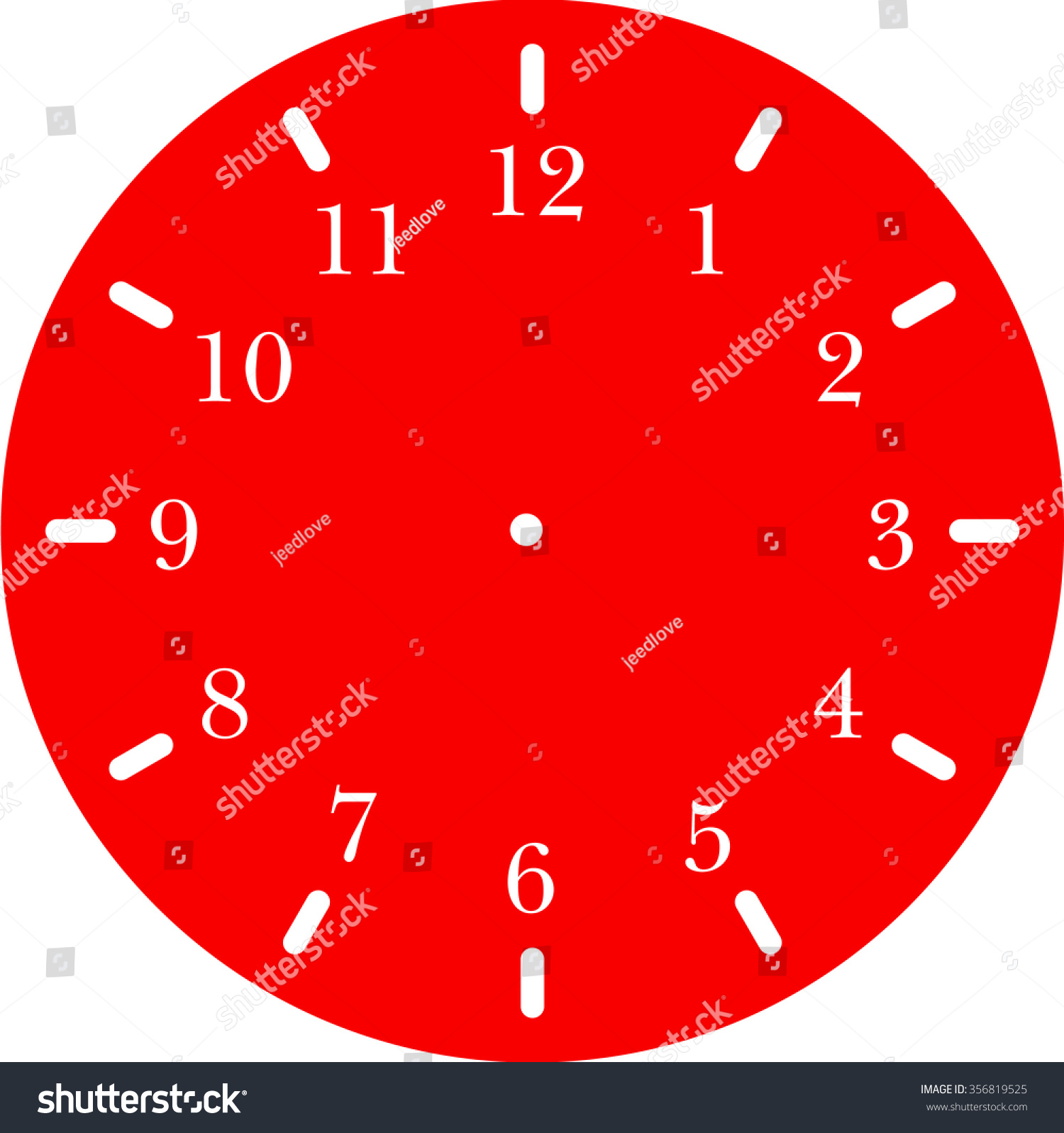 worksheet Blank Analog Clock Face clock face blank stock vector 356819525 shutterstock blank