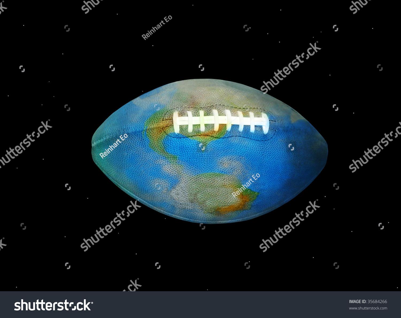 Football Earth Space World American Football Stock Illustration ...