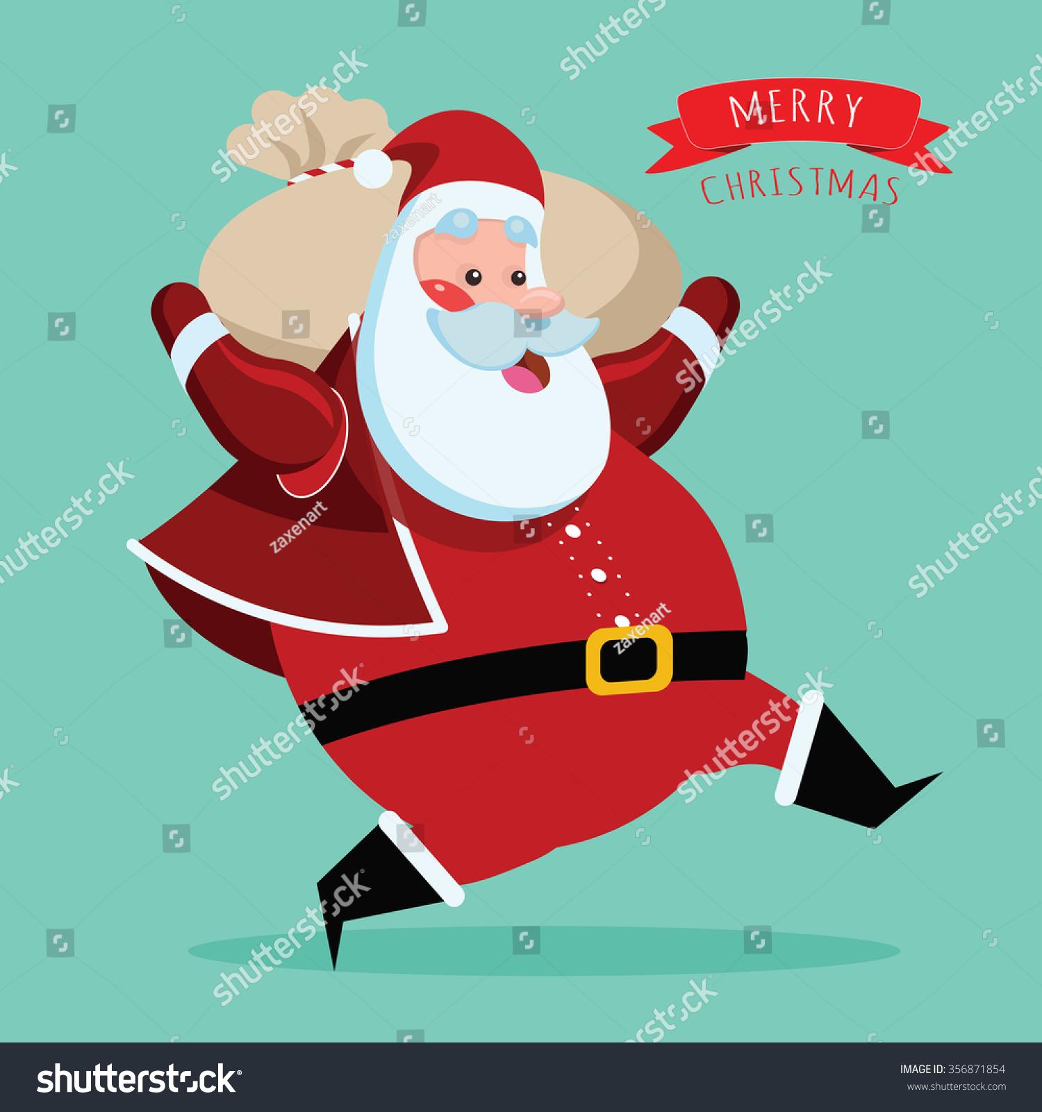 Santa Christmas Run Stock Illustration 356871854 - Shutterstock