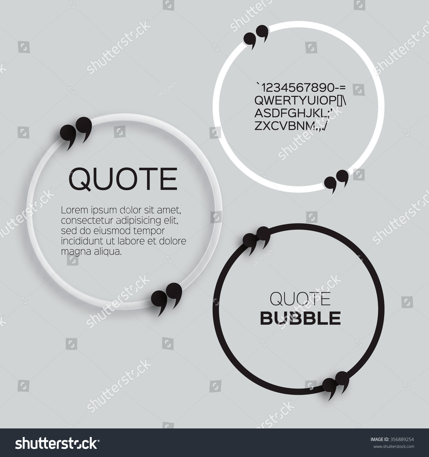 Quote Bubble Circle Form Speech Bubble Stock Vector 356889254 ...