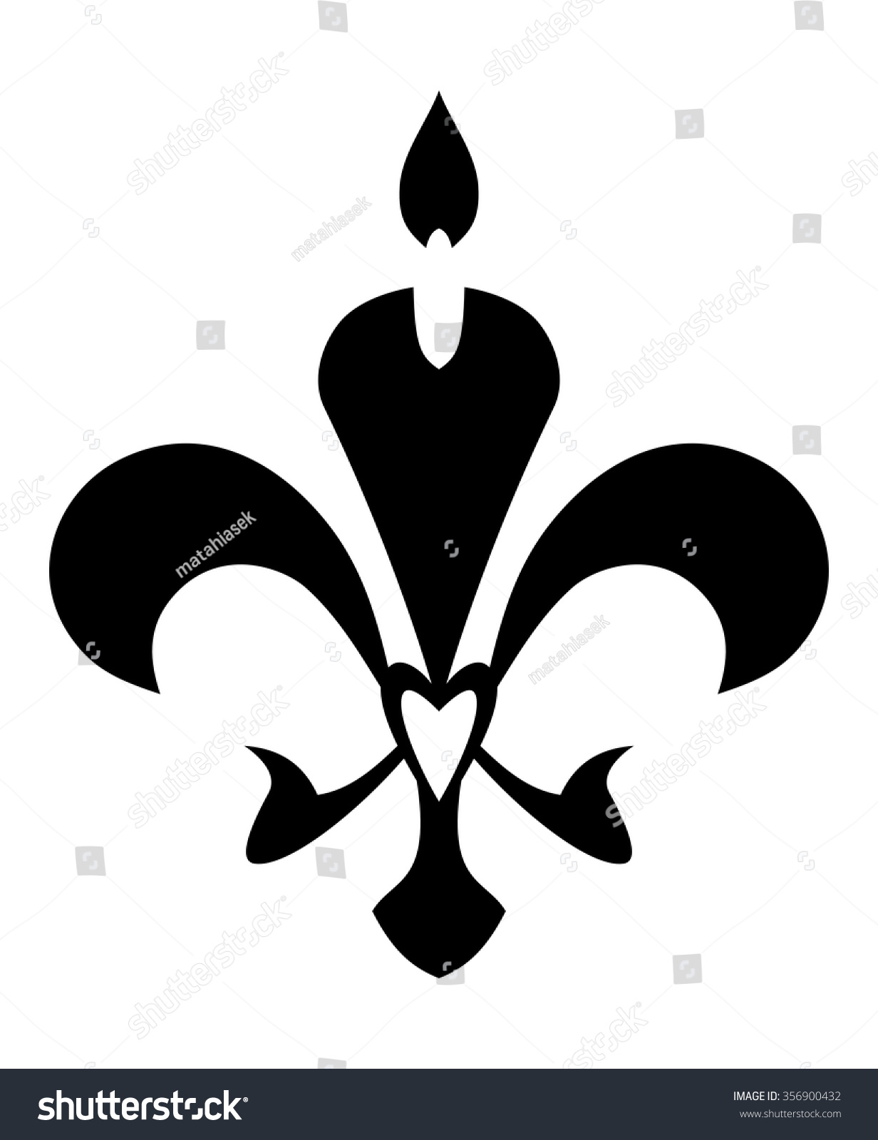 Fleur De Lis Symbol Isolated On Stock Vector Royalty Free