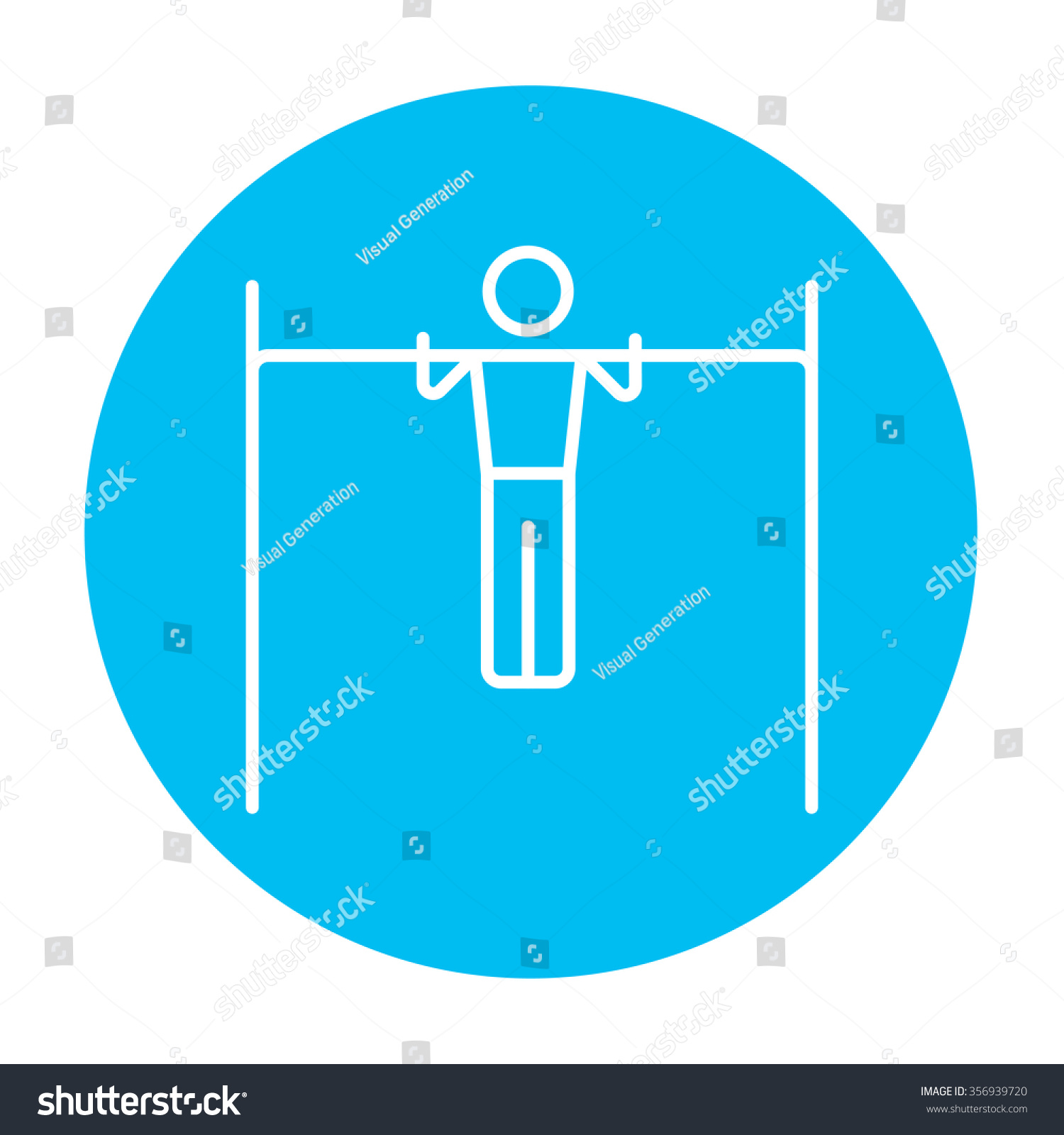 Vector light bar alternative clipart design gymnast exercising on bar line icon stock vector 356939720 rh shutterstock com vector light bar for aloadofball Choice Image
