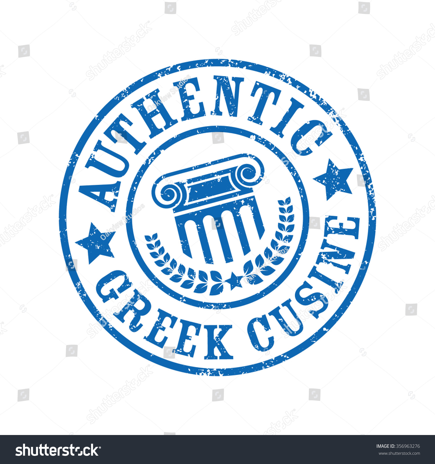 Authentic greek cuisine grunge stamp vector stock vector for Authentic greek cuisine