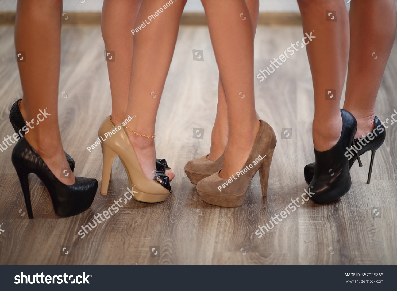 afdf8b0196 Four Pair Beautiful Female Legs Highheeled Stock Photo (Edit Now ...