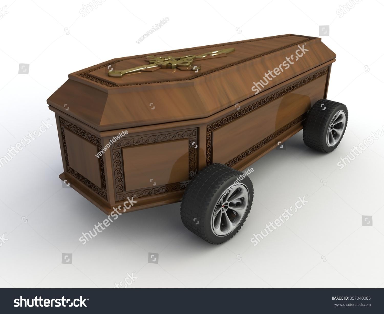 Coffin on wheels 34