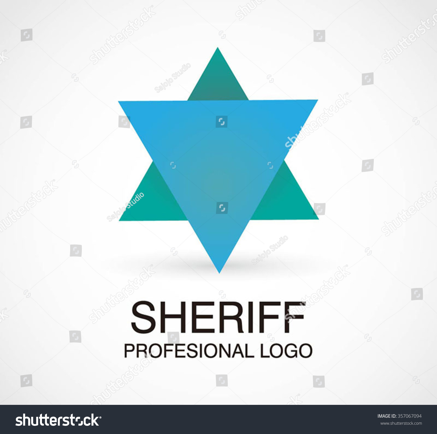 Sheriff badge star abstract vector logo stock vector 357067094 sheriff badge of star abstract vector and logo design or template triangle police business icon of pronofoot35fo Images