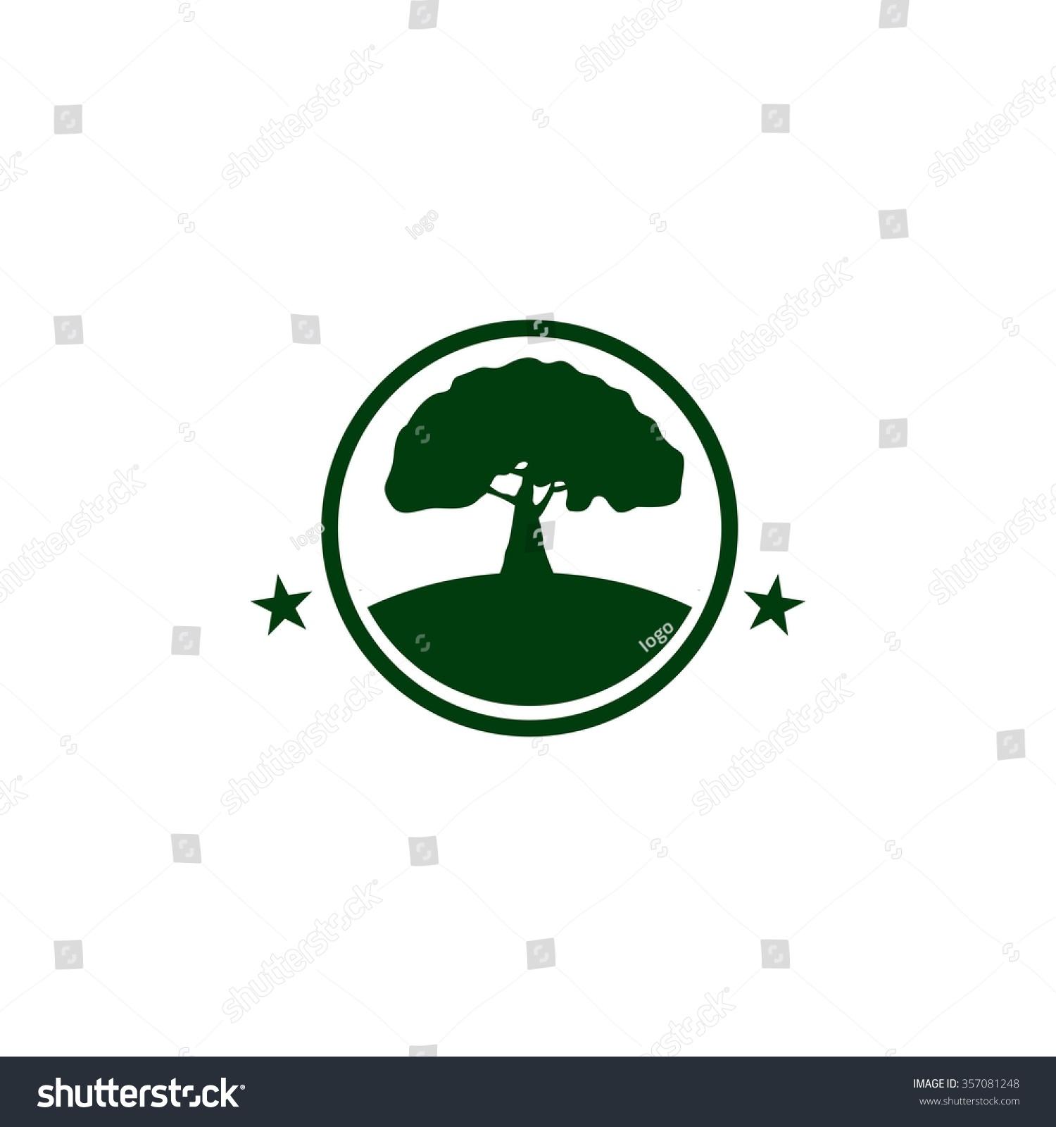 Oak Tree Logo Stock Vector 357081248 - Shutterstock