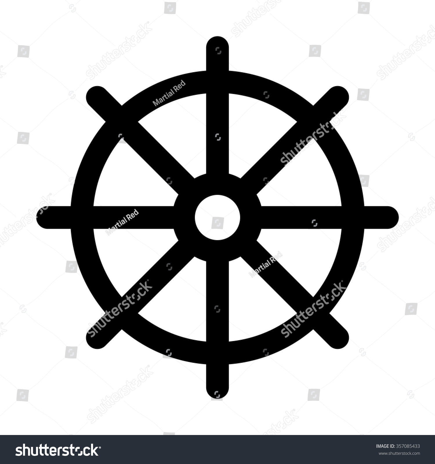Dharmachakra Wheel Dharma Symbol Buddhism Hinduism Stock Vector ... for Dharmachakra Png  54lyp