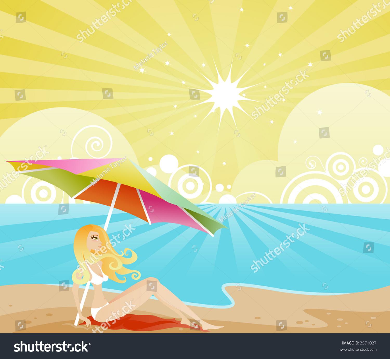 Woman Enjoying At Beach Stock Image Image Of Pleasure: Strawberry Blonde Woman Sits On The Beach, Enjoying The