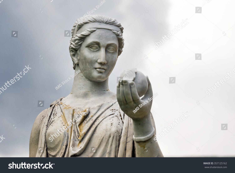 marble statue greek goddess hera roman stock photo 357125162