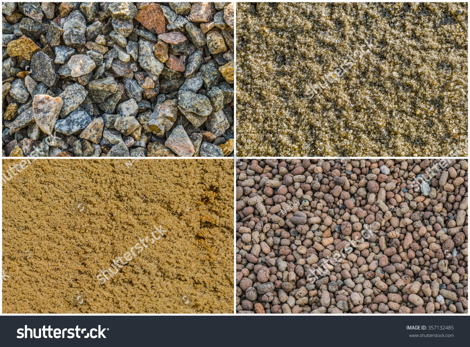 Crushed Granite Gravel : Texture loose materials crushed stone granite stock photo