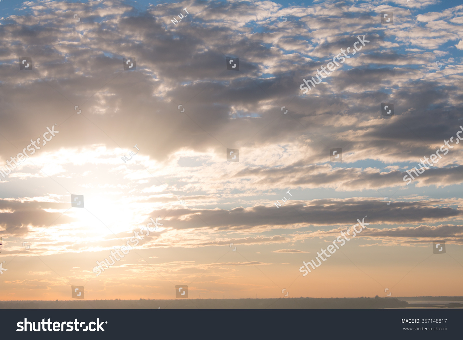Beauty Blue Sky Clouds Daytime Thailand Stock Photo ...