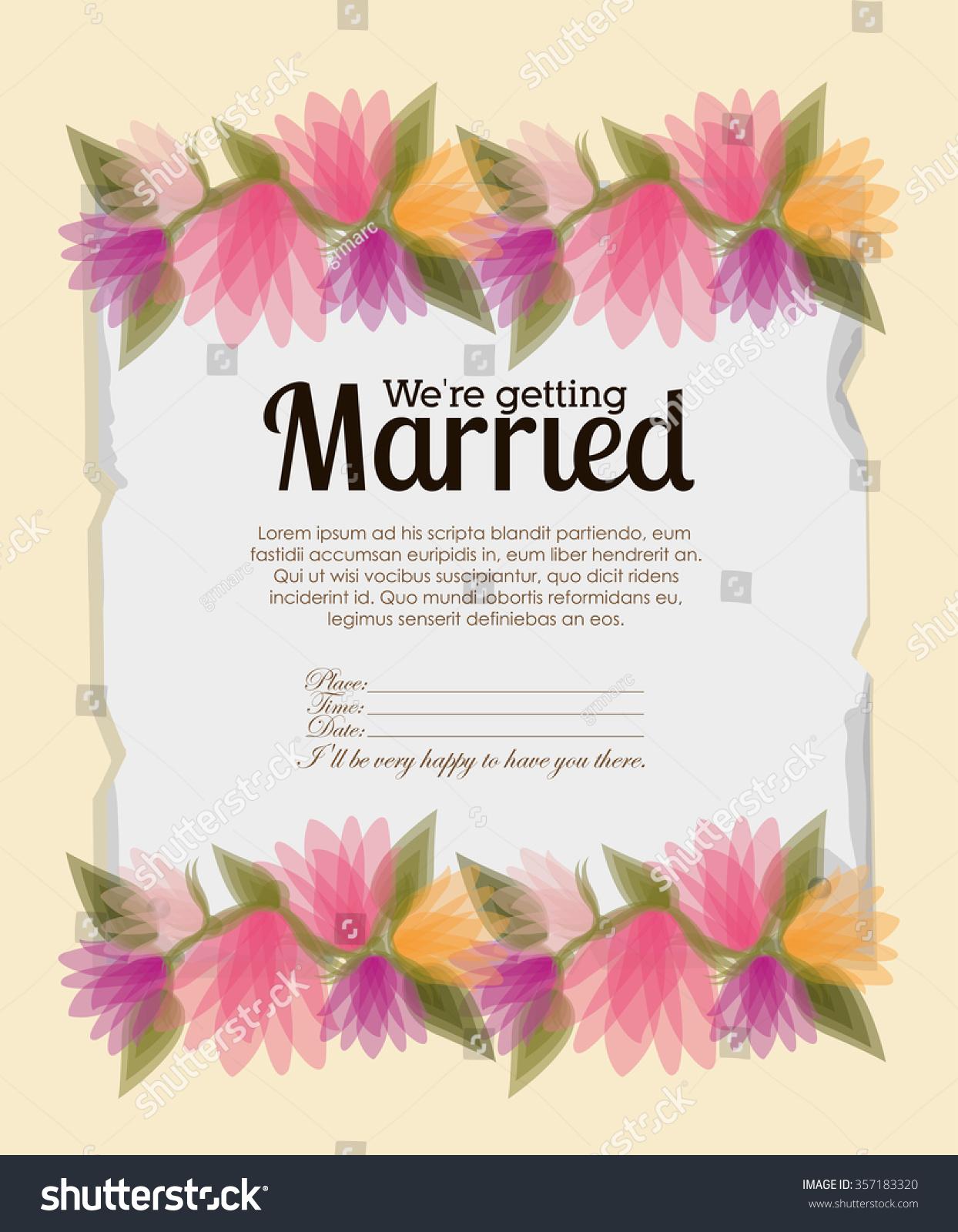 Wedding invitation design vector illustration eps10 stock vector wedding invitation design vector illustration eps10 graphic stopboris Gallery