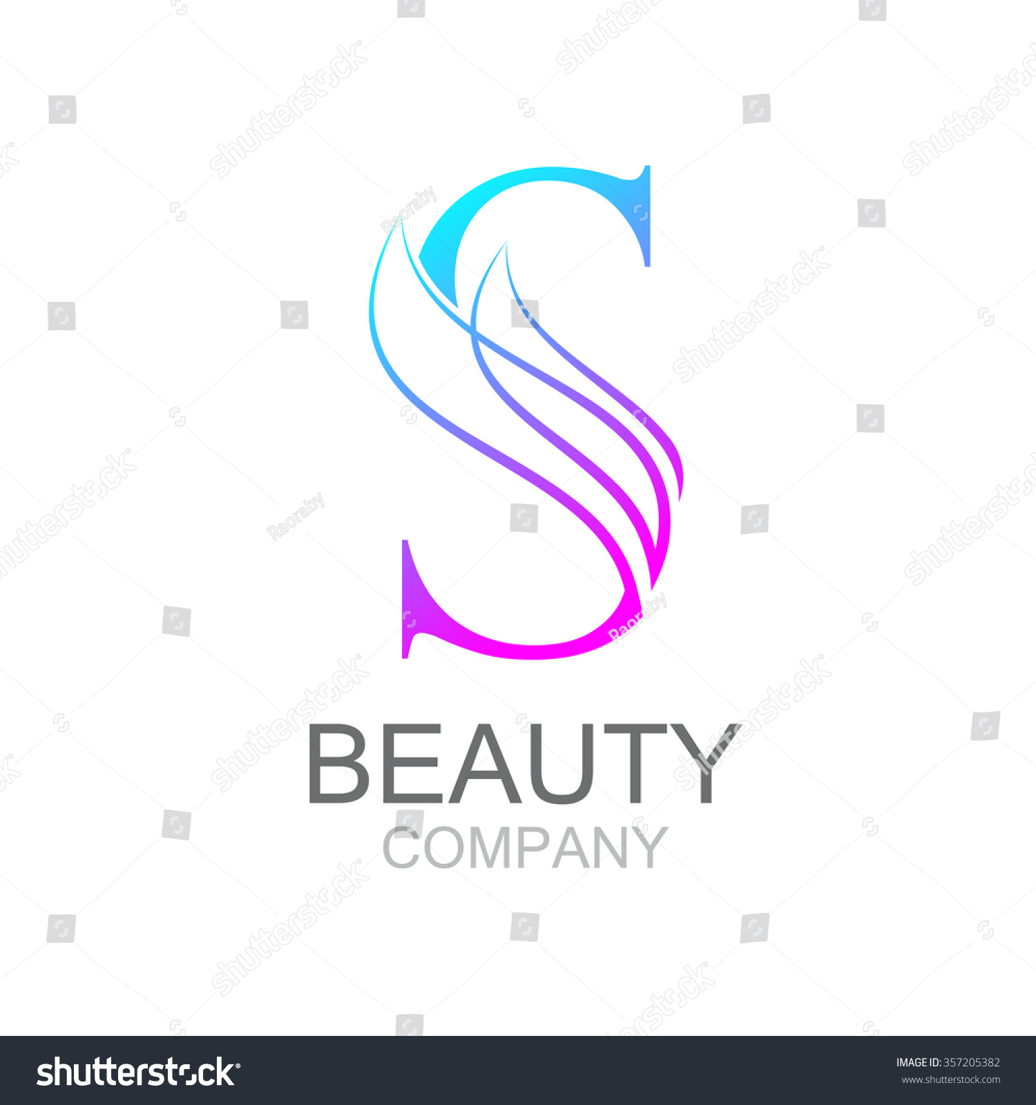 abstract letter s logo design template stock vector