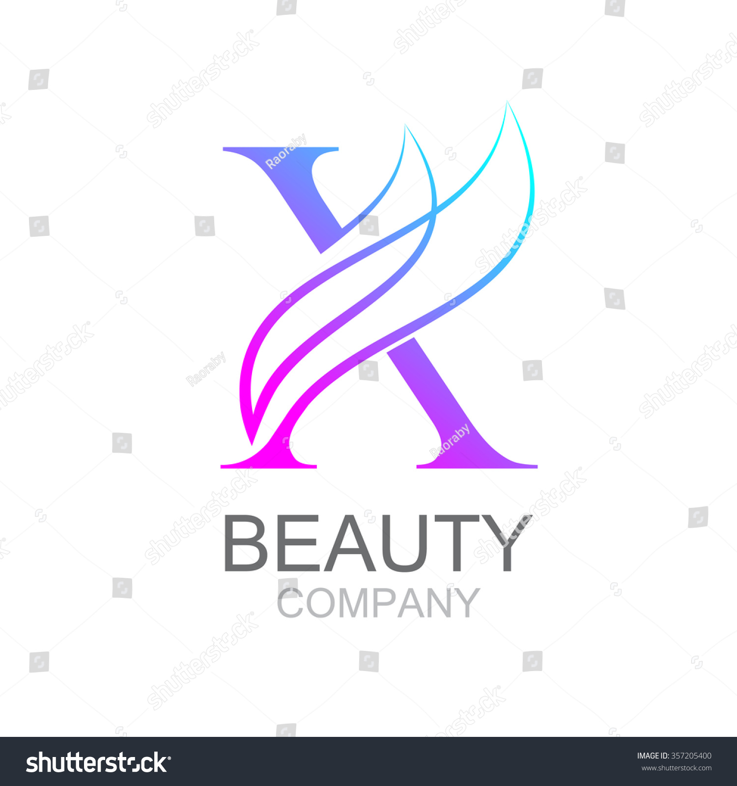 Abstract Letter X Logo Design Template Stock Vector 357205400 ...