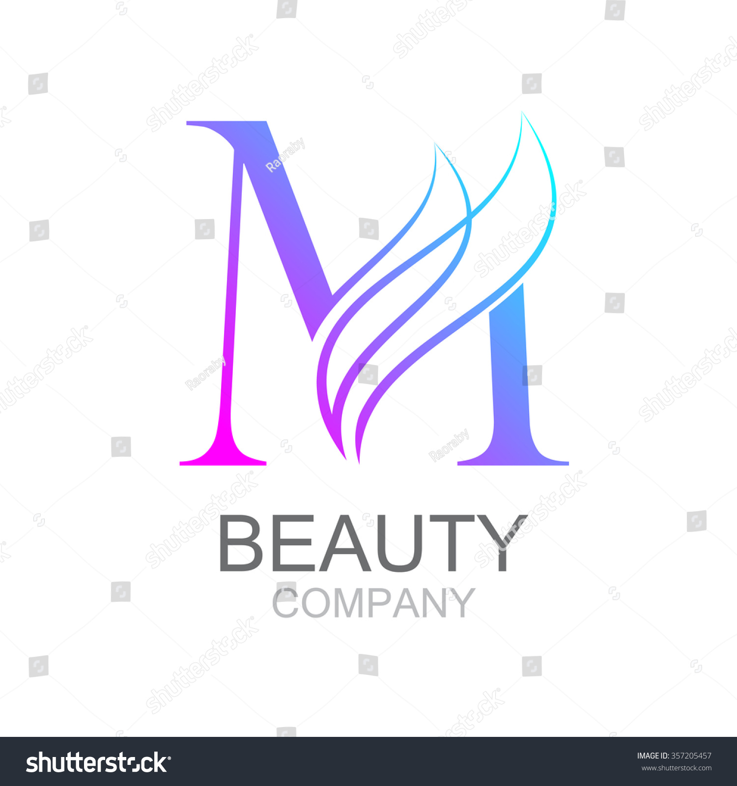 Abstract letter m logo design template with beauty for Abstract beauty salon